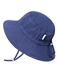 Jan & Jul Baby Toddler Kids Aqua-Dry Bucket Sun-Hat 50+ UPF Protection, Adjustable, Stay-on Chin-Strap