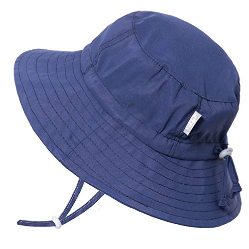 JAN & JUL Baby Boy Quick Dry Sun Hat 50 UPF, Adjustable, Stay-on Tie (S: 0-6m, ()