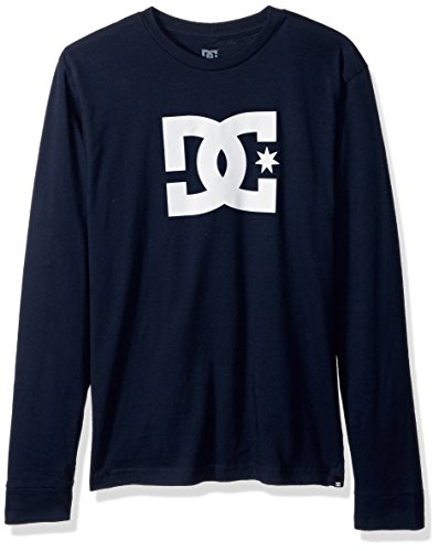 DC Men's Star Long Sleeve Logo Tee Shirt, Dark Indigo, 2XL - Logo Indigo Blue T-shirt