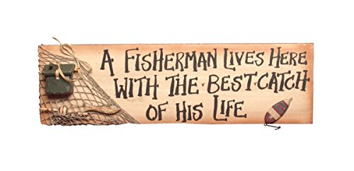 - Ohio Wholesale A Fisherman Lives Here Sign