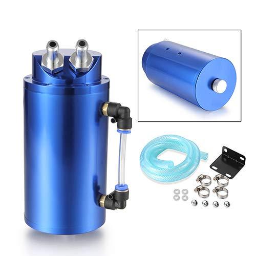 Dromedary Blue Aluminum Oil Reservoir Catch Can Tank Kit Breather Filter Baffled