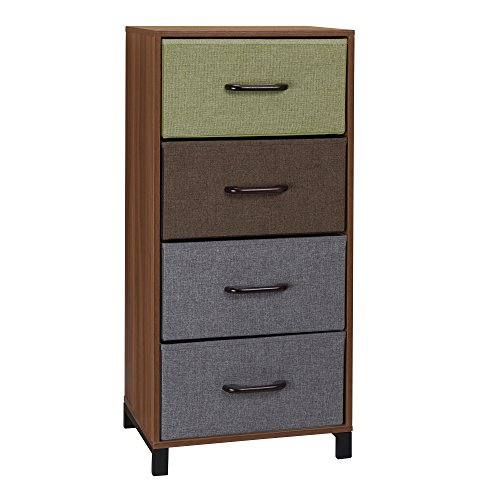 Household Essentials 8034-1 Wooden 4 Drawer Dresser | Storage Night Stand | Honey Maple ()