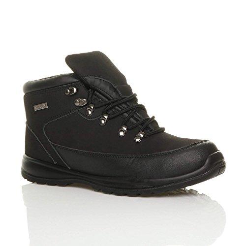 Ajvani Mens EN345-SBP Steel Midsole Toe Cap Work Safety Ankle Boots Size Black
