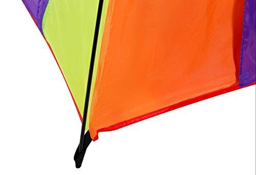 Alvantor Kids Tent Indoor Children Play Toy Toddler Pop up Outdoor Games Colourful Curvy Patent, Red, Orange,Purple,Green, 48'' 48'' 42'' by Alvantor (Image #7)