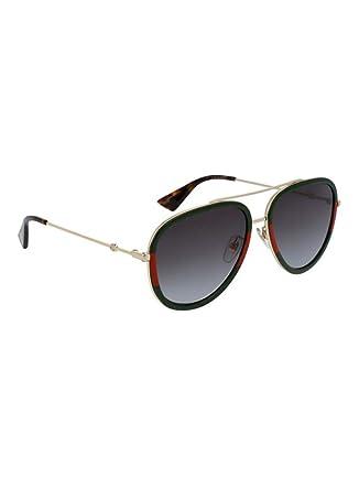 22e8e9350 Gucci Aviator Sunglasses For Women - Black, GG0062S-003-57: Amazon ...