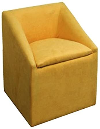 ore hb4428 yellow accent chair with storage 2075inch