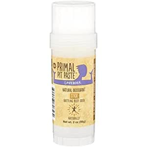 Primal Pit Paste All Natural Lavender Deodorant – Aluminum-Free, Paraben-Free, Non-GMO, Phthalate-Free for Women and Men – BPA-Free 2 Oz Convenience Jar – Scented with Natural Essential Oils