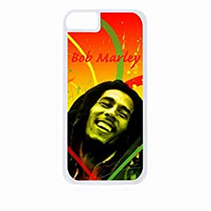 Bob Marley-Colorful- Hard White Plastic Snap - On Case-Apple Iphone 4 - 4s - Great Quality!