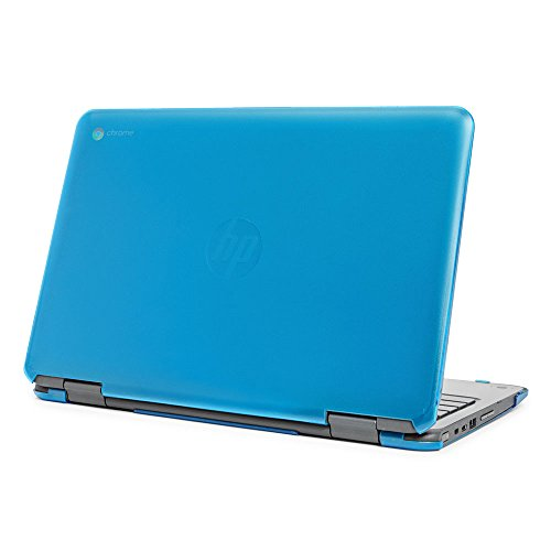 mCover Hard Shell Case for 11.6'' HP Chromebook X360 11 G1 EE laptops (NOT Compatible with HP C11 G4EE / G5EE / G6EE) (HP CX360 11 G1EE Aqua) by mCover