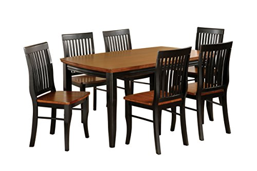 HOMES: Inside + Out IDF-3101T 7PC SET Charleston Mission Style 7 Piece Rectangular Dining Set, Antique (Charleston Side Table)