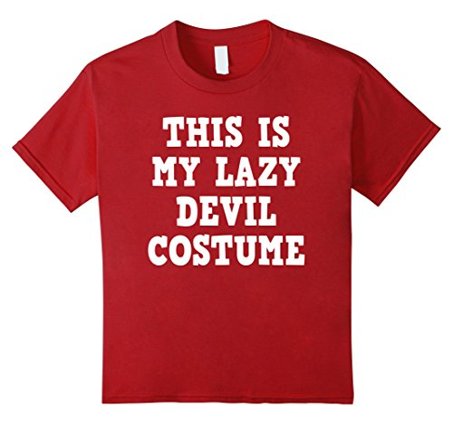 [Kids Halloween Devil Demon Costume Funny Tshirt - Men Women Kids 10 Cranberry] (Female Demon Costumes)