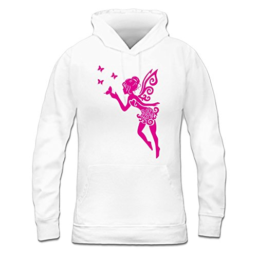 Sudadera con capucha de mujer Fairy With Butterflies by Shirtcity Blanco