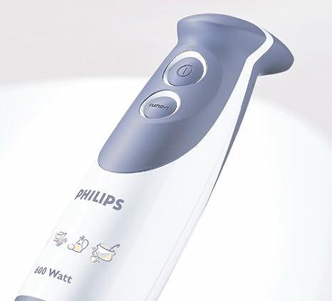 Philips HR1365 600 W, brazo de metal, con vaso batidora de varilla ...