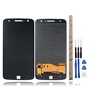 For Motorola Moto Z LCD Screen Replacement HYYT LCD Display and Touch Screen Digitizer Glass Replacement Full Assembly for Motorola Moto Z(black)