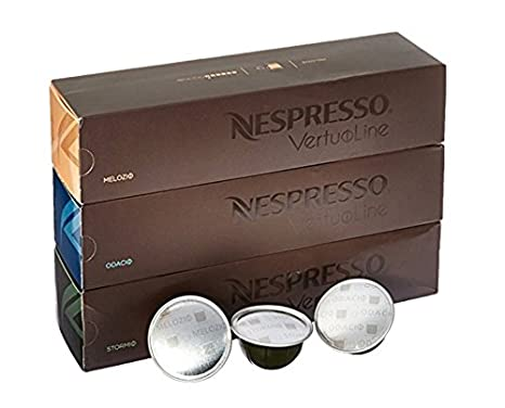 Nespresso VertuoLine café cápsulas Surtido – Los Mejores vendedores: 1 funda de stormio, 1