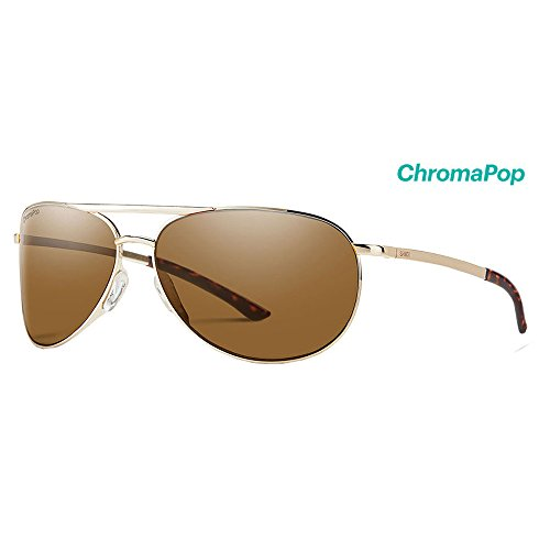 Smith Serpico Slim 2 ChromaPop Polarized Sunglasses, Gold, Brown - Smith Optics Serpico Sunglasses