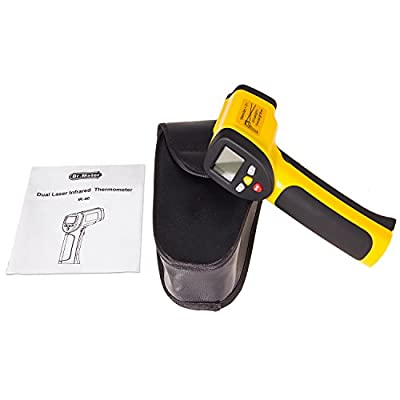 [Infrared Thermometer]Dr.meter Non-Contact Dual Laser Digital Infrared Thermometer Temperature Gun -58°F to 1202°F, IR-40