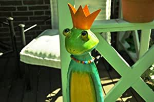 kuheiga Rana, Altura: Aprox. 76cm, Jardín Figura de Metal Rana König