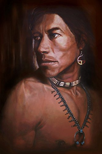 Original Oil Painting Canvas (AMERICAN SPIRIT - 12x18 Inch Native American Fine Art Print from Original Oil Painting)