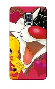 Waterdrop Snap-on Sylvester And Tweety Pie Cartoon Heart Looney Tune Ylvester Case For Galaxy S5