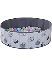 Kids Ball Pit -Double Layer Oxford Cloth Waterproof Folding Portable Baby Play Ball Pool(Balls Not Included) Not Need to Inflate Stable Ball Pit for Toddler