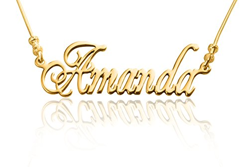24K Gold plated Customized Name Necklace -
