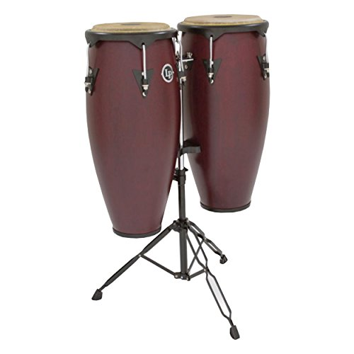 Series Wood Conga Set (Latin Percussion LP646NY-DW 10-Inch and 11-Inch City Series Conga Set with Stand - Dark Wood)