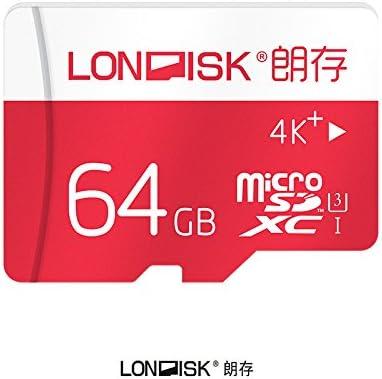 londisk tarjeta Micro SD de 64 GB CLASS10 UHS-3 Tarjeta de memoria ...