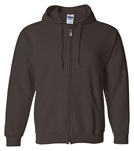 �Gildan Adult Heavy Blend� Full-Zip Hooded Sweatshirt (Dark Chocolate) (X-Large)