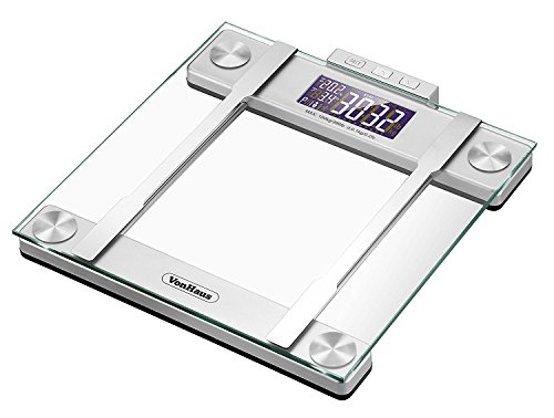Vonhaus Body Fat Scales 400lb Weight Capacity Hydration Monitor Composition Analyser Bathroom