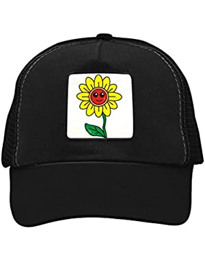 Unisex Sunny Sunflower Trucker Hat Adjustable Mesh Cap