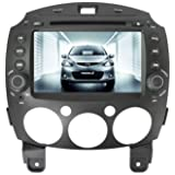 In Dash Navigation For (2008-2012) Mazda 2 6-8 Inch Touchscreen Double-DIN Car DVD Player & In Dash Navigation System, Build-In Bluetooth,Radio with RDS,Analog TV, AUX&USB, iPhone/iPod Controls,Steering Wheel Control, Rearview camera input