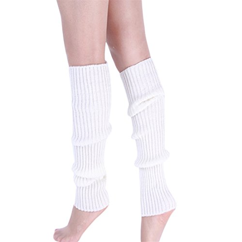 Cotton Leg Warmers,Hemlock Women's Pure Colour Boot Cuffs Warmer Knit Leg Stockings (White) (Cheap 80s Dresses)