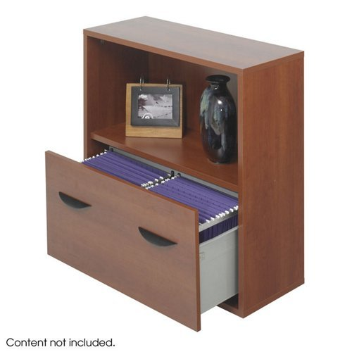 Modular Lateral File with Storage Shelf Mahogany Finish - Safco Lateral File