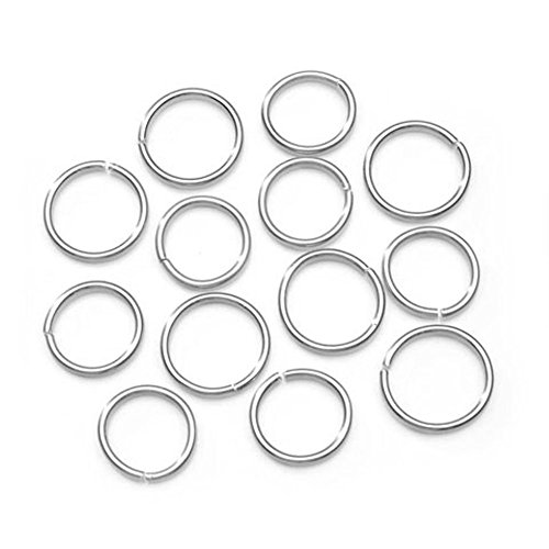 Jump Rings - Aluminum - Silver - Assorted (20mm and 23mm) - 44 Pieces ()