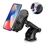 Nesolo 10W QI Wireless Car Charger, Car Mount with Air Vent Phone Holder, Fast Charge for Samsung Galaxy S9, S9 Plus, S8, S8 Plus,Note 8, Note 5, for iPhone X,XR,XS,MAX,8, 8 Plus-with Infrared