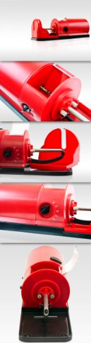 New Red Electric Cigarette Rolling Roller Injector Machine Tobacco