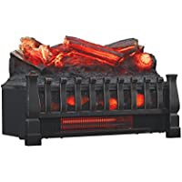 Duraflame DFI030ARU Infrared Quartz Set Heater with Realistic Ember Bed and Logs, Black