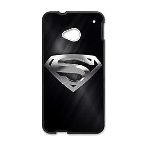 Superman Logo RZ67XQ7 funda HTC uno del teléfono celular M7 caso funda O4HW8C9SM