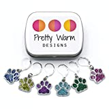 Pet Paw Charms Crochet Stitch Holders