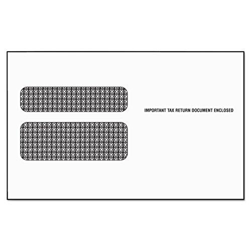 TOPS 2219LR Sobre de formulario de impuestos de doble ventana para formularios láser W2, 5 5/8 x 9 (paquete de 50)
