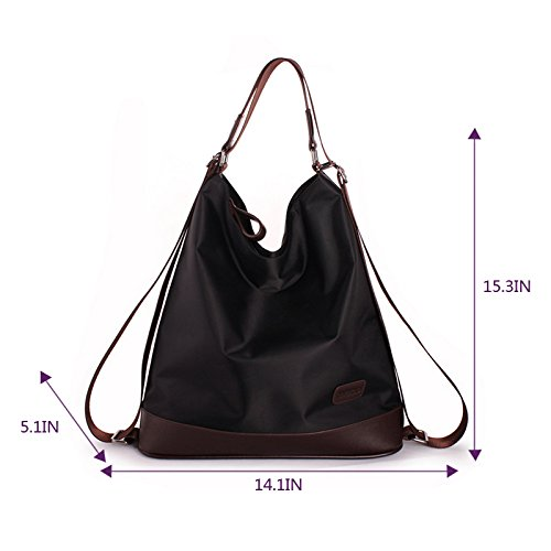 Multi LA Tote Purse HAUTE Bag Color Bag Elegant Purple Backpack Function LA Crossbody Women's Shoulder Nylon HAUTE Handbag Black Fashion RX688fq5