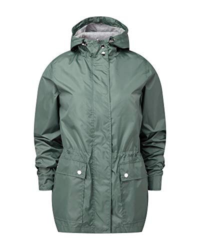 Cotton Jacket Coat Soft Parka Shower Traders Green Women's Lined Proof rxYqr4wa