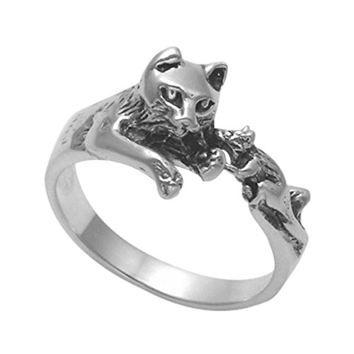 Sterling Silver Cat & Mouse Ring (7)