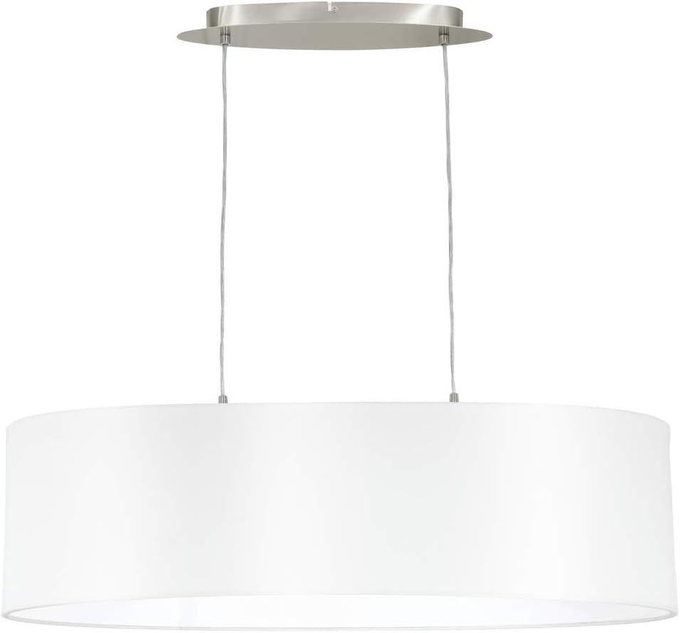 Lampadario eglo 31609 luce interna, argento