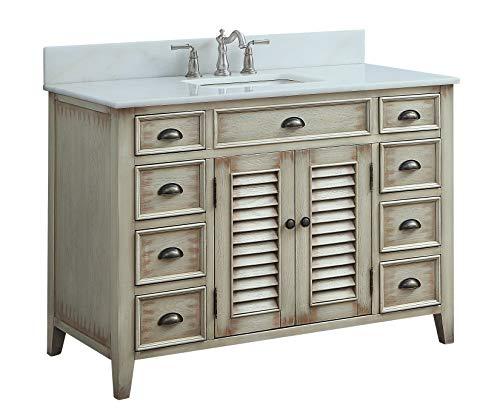 "46"" Benton Collection Cottage Look Abbeville Bathroom Sink Vanity Model CF-28325"