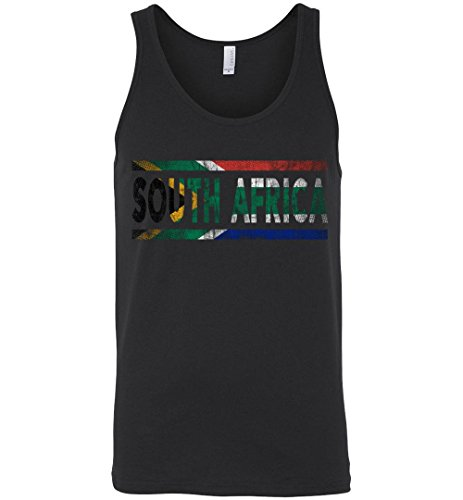 Retro Flag of South Africa American with Roots Vintage Black Tank Top by Robust Creative South African Pride
