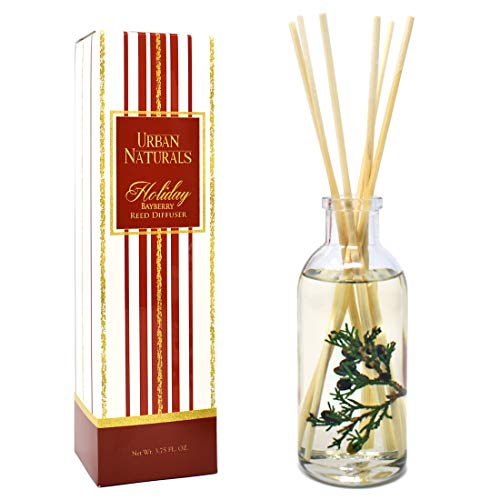 - Urban Naturals Bayberry Reed Diffuser Oil with Sticks | Pine, Fir, Laurel Bayberry, Frankincense & Spice Scented Oil | Made in The USA
