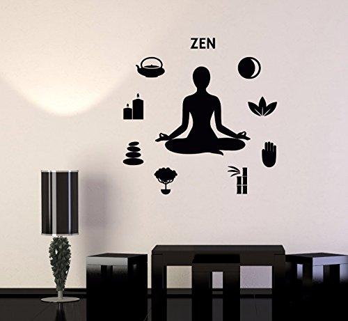 Vinyl Wall Decal Zen Yoga Meditation Pose Buddhism Stickers 567