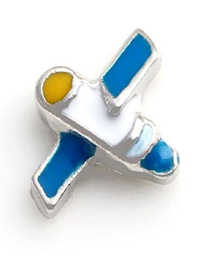 Cherityne Airplane/Air Jet Floating Charm for Locket Pendants (Airplane Floating Locket Charm)